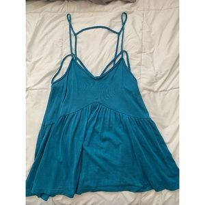 AE Blue Strappy Tank Top